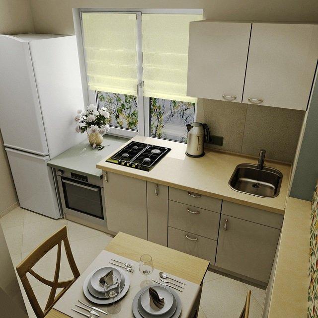 Маленькая кухня 6 м